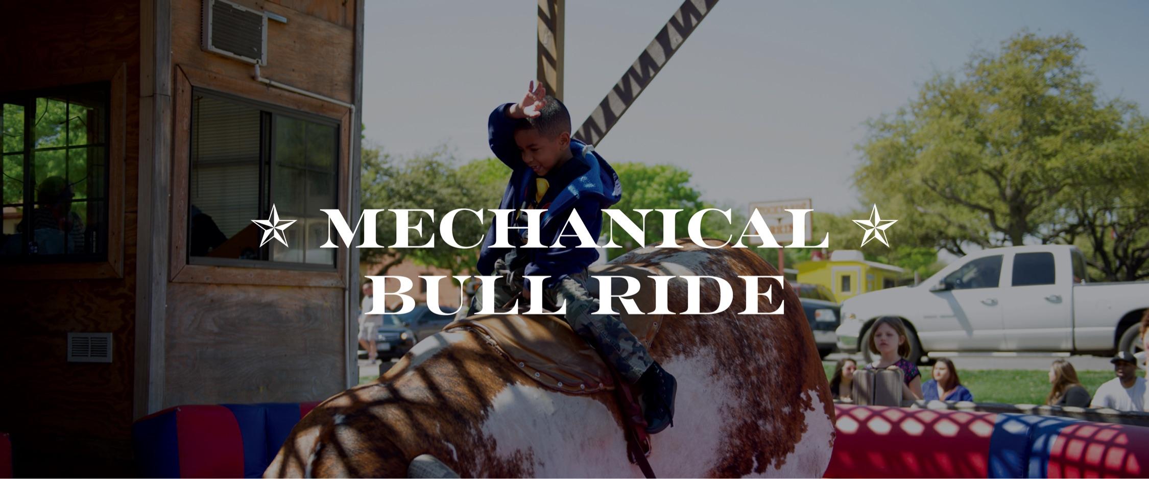 Mechanical Bull Ride Fort Worth Stockyards